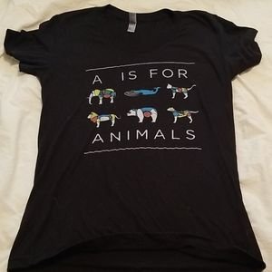 """🐒🦁🐐NWOT """"A is for Animals"""" tee🐒🦁🐐"""